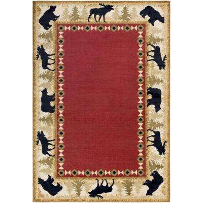 Mountain Home Burgundy 2 ft. x 3 ft. Indoor Area Rug