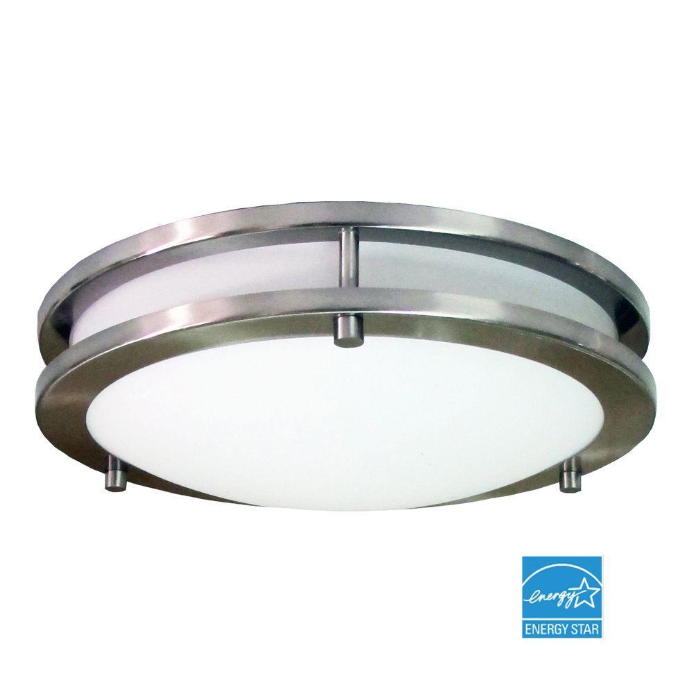 Flaxmere 1-Light Brushed Nickel Flushmount