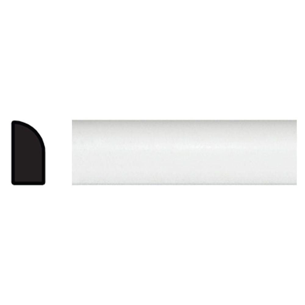 TRIMFINITY 1/4 in. x 1/2 in. x 96 in. Polystyrene White Shoe Moulding