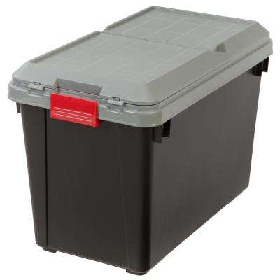 102 Qt. Store-It-All Storage Bin in Black (4-Pack)