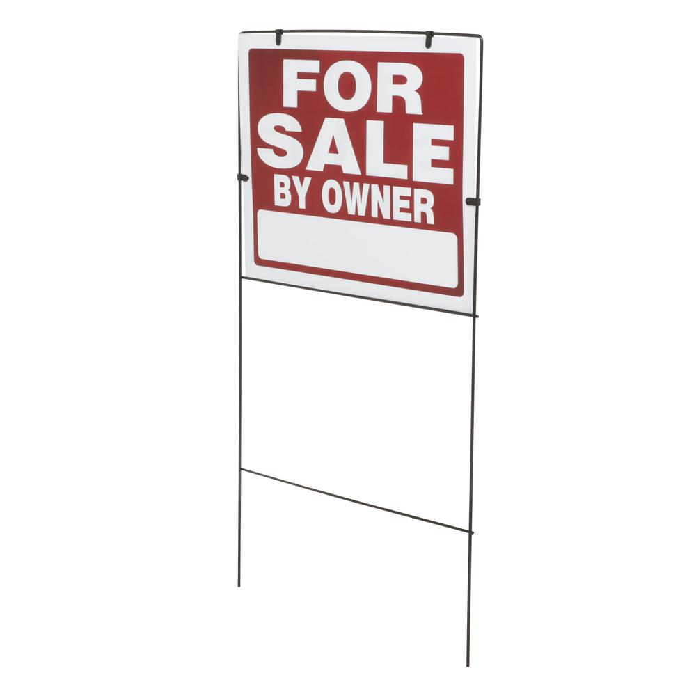 Everbilt 18 in. x 24 in. Plastic for Sale By Owner with Frame Sign