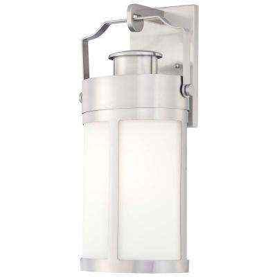 Vista Delmar 1-Light Brushed Stainless Steel Wall Mount Lantern