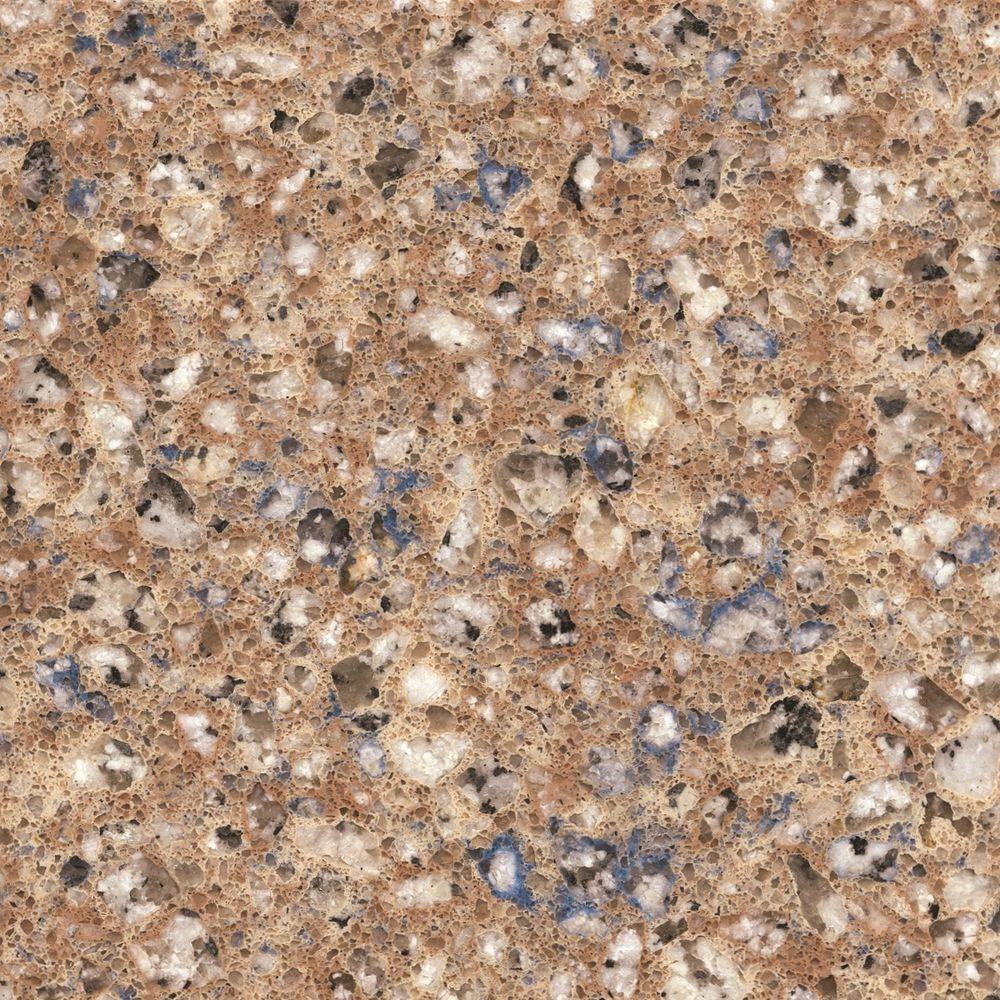 2 in. x 4 in. Quartz Countertop Sample in Blue Sahara