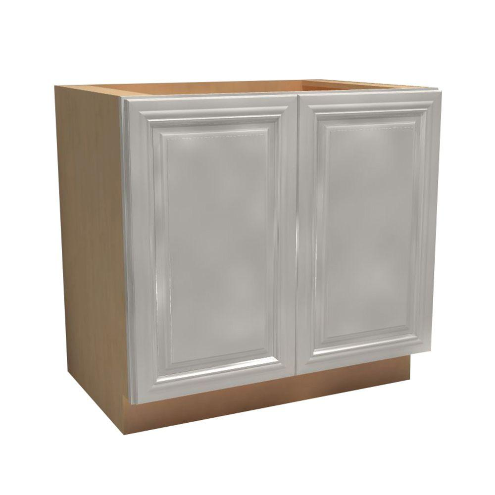 Coventry Assembled 36x34.5x24 in. Double Door Base Kitchen Cabinet in Pacific