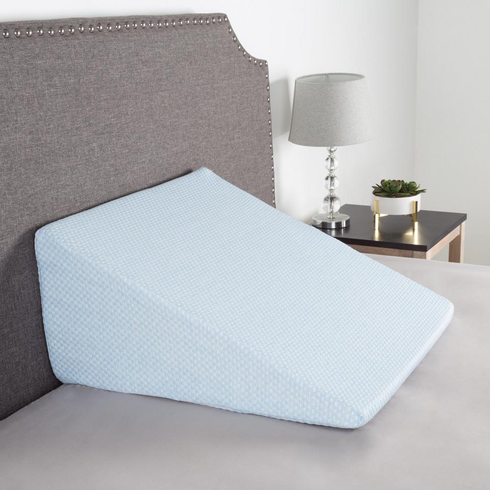 lavish home memory foam pillow with bamboo fiber cover extra high rh homedepot com