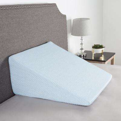 Memory Foam Pillow with Bamboo Fiber Cover Extra High Wedge Pillow in Blue
