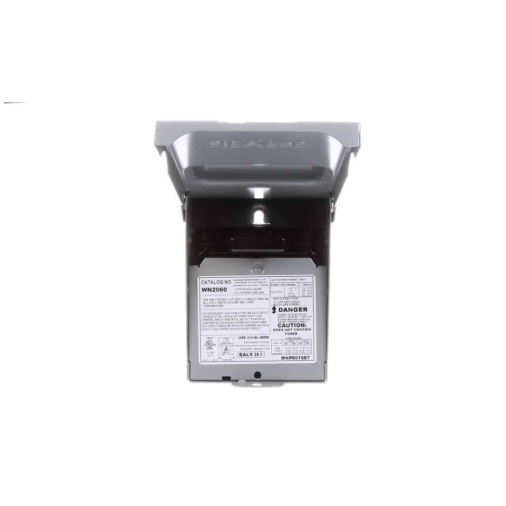 60 Amp Non-Fusible Outdoor AC Disconnect