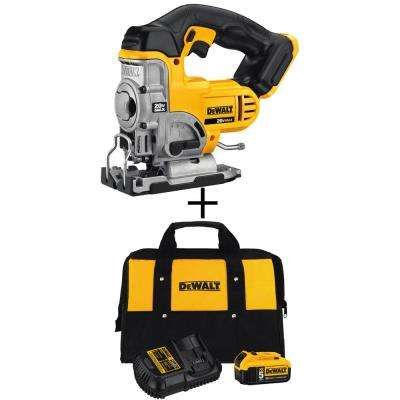 20-Volt Max Lithium-Ion Cordless Jig Saw (Tool-Only) with Bonus Battery Pack and Charger Kit