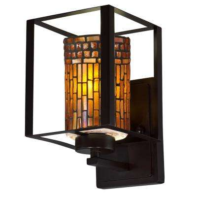 Mexicali Mosaic 7.5-Watt Antique Bronze Integrated LED Wall Sconce