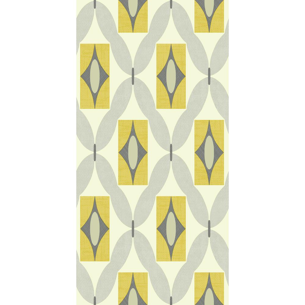 Arthouse Quartz Yellow Wallpaper 640703 The Home Depot