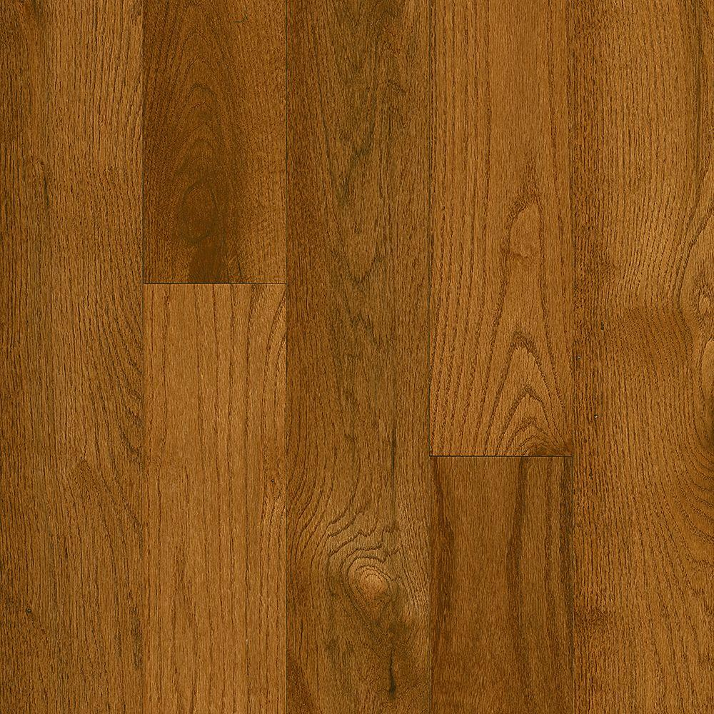Bruce Plano Oak Gunstock 3/4 in. Thick x 5 in. Wide x Varying Length Solid Hardwood Flooring (23.5 sq. ft. / case)