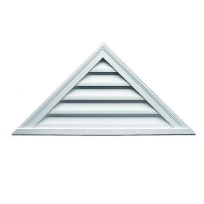 60 in. x 17-1/2 in. x 2 in. Polyurethane Functional Triangle Louver Gable Vent