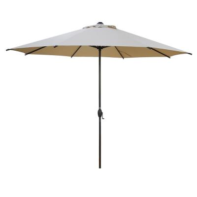 11 ft. Market Patio Umbrella with Push Tilt and Crank in Beige
