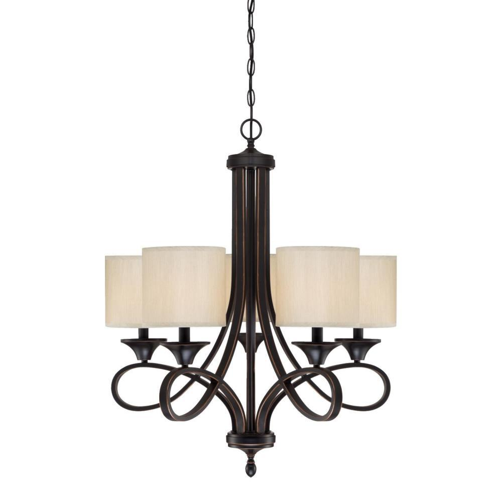 Westinghouse Lenola 5-Light Amber Bronze Chandelier With