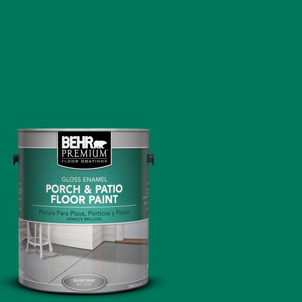 1 gal. #OSHA-2 OSHA SAFETY GREEN Gloss Interior/Exterior Porch and Patio Floor Paint
