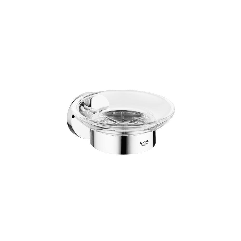 Essentials Wall-Mounted Soap Dish with Holder in StarLight Chrome