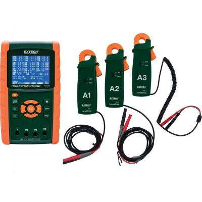 200A 3-Phase Power Analyzer and Data Logger Kit with NIST