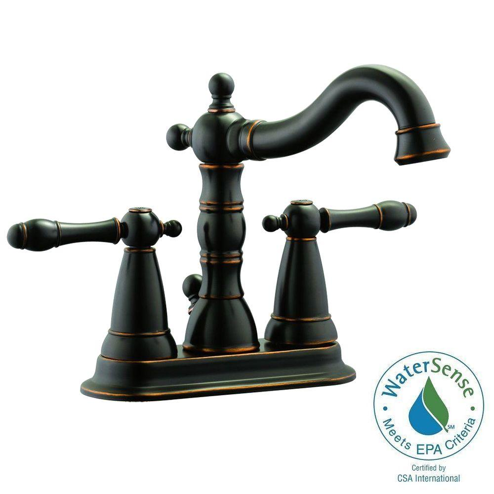 Oakmont 4 in. Centerset 2-Handle Bathroom Faucet in Oil Rubbed Bronze