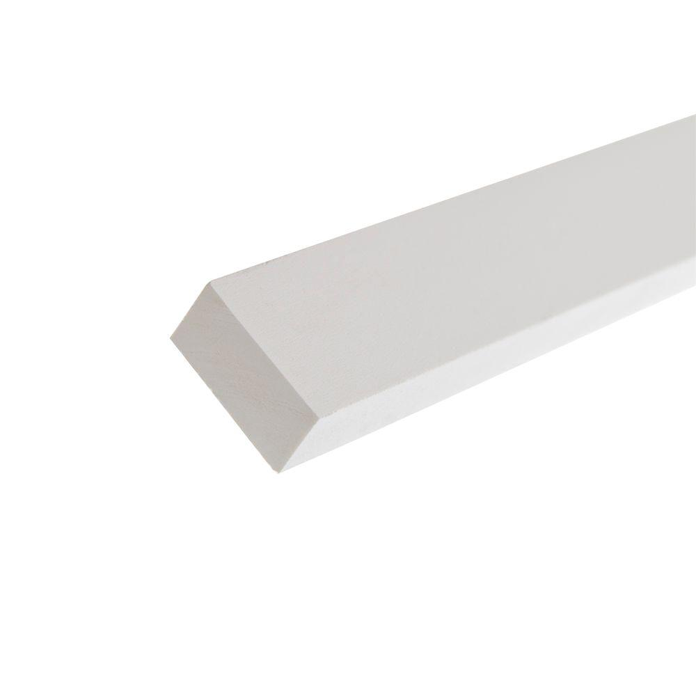 AZEK Trim 0 75 in  x 1 5 in  x 8 ft  White PVC Composite Traditional Trim