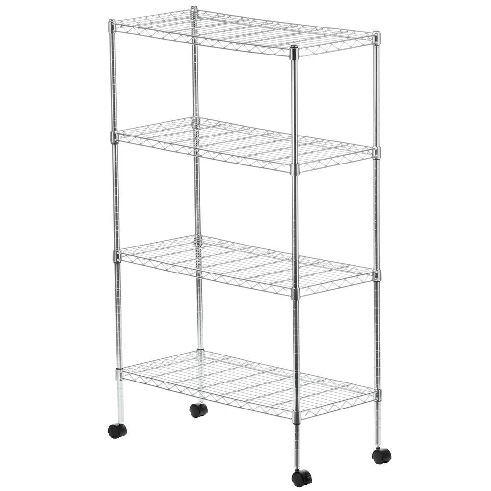 Seville Classics 4-Shelf 30 in. W x 48 in. H x 14 in. D Steel Wire ...