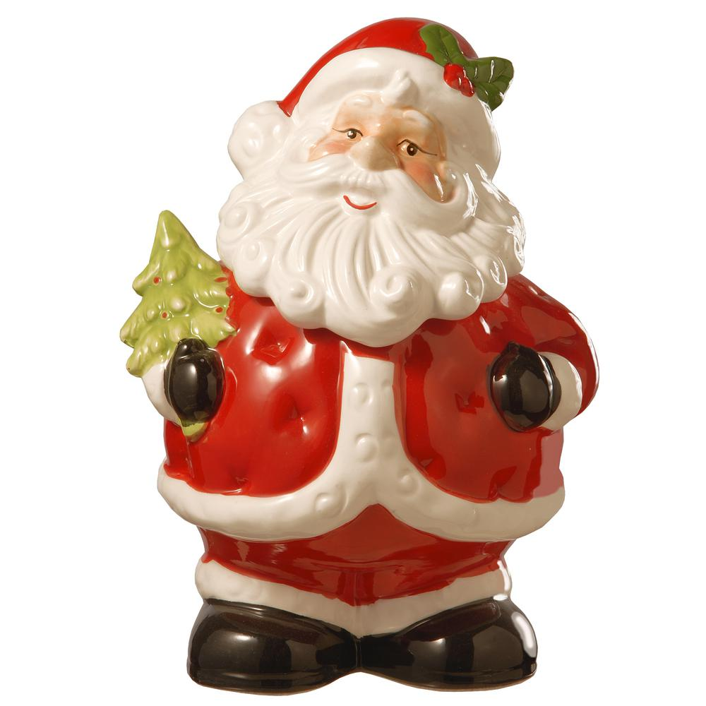4863655557190 National Tree Company 10 in. Dolomite Santa Cookie Jar-PG11-17B05011 ...