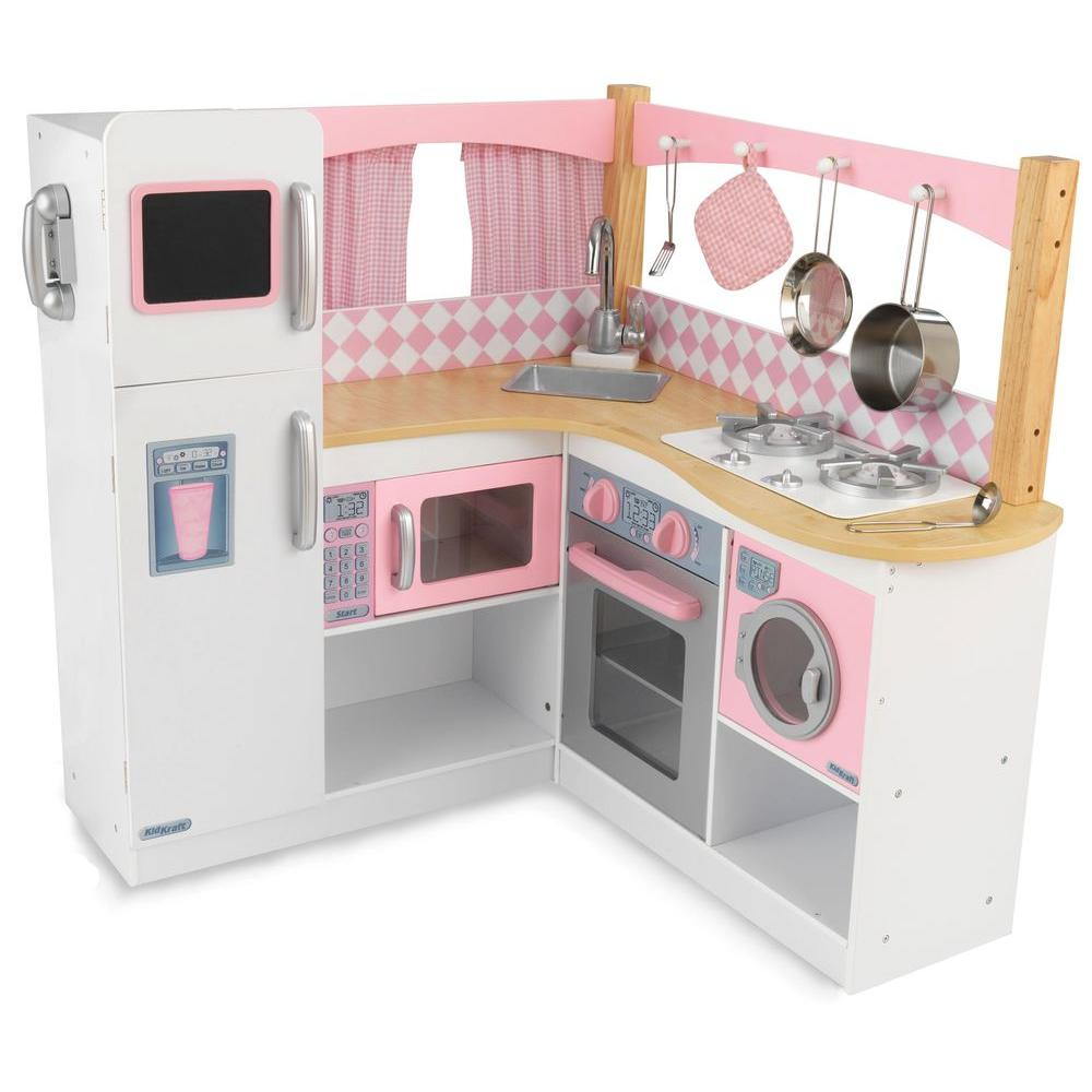 kidkraft grand gourmet corner kitchen playset - Kitchen Playset
