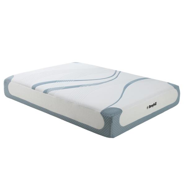 Broyhill Sensura 12 in. Cal-King Medium Plush Gel Memory Foam Mattress