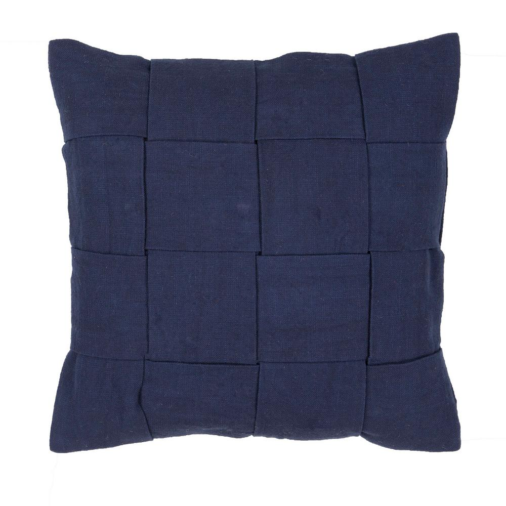 Jeep Throw Pillows : Jaipur Living Tabby Twilight Blue Downfill Decorative Pillow-PLW101884 - The Home Depot