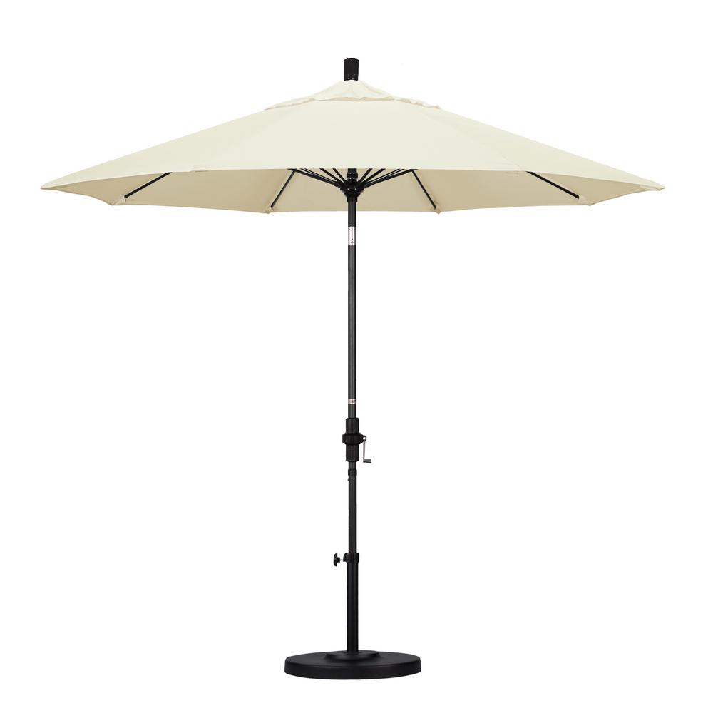California Umbrella 9 ft. Fiberglass Collar Tilt Patio Umbrella in Canvas Pacifica