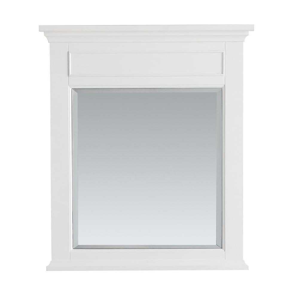 Simpli Home Evan 30 In X 34 In Bath Vanity Mirror In