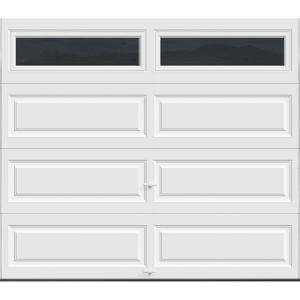 Plain White Door clopay premium series 8 ft. x 7 ft. 12.9 r-value intellicore