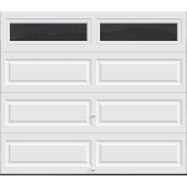 Classic Collection 8 ft. x 7 ft. 12.9 R-Value Intellicore Insulated White Garage Door with Windows Exceptional
