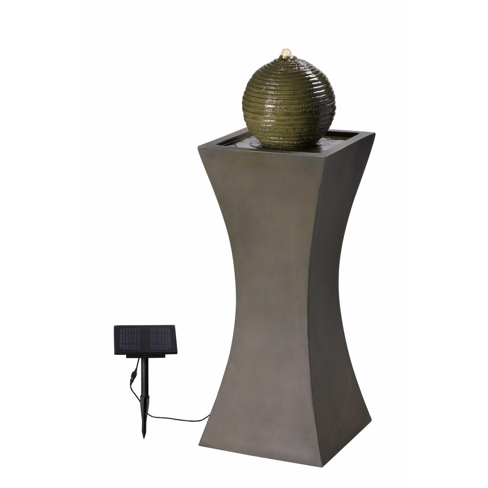 KENROYHOME Kenroy Home Bubble Resin Outdoor Solar Fountain