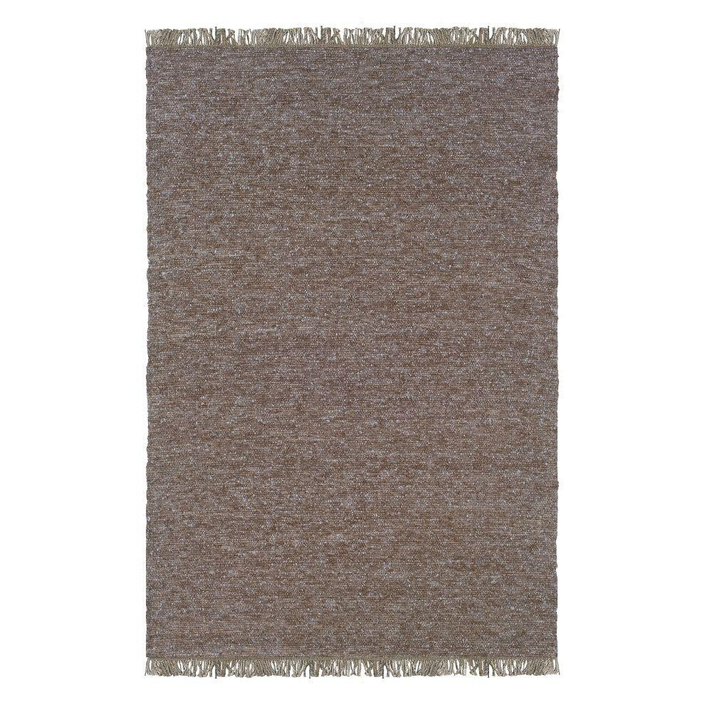 Linon Verginia Berber Brown/Blue 8 ft. x 10 ft. Indoor Ar...