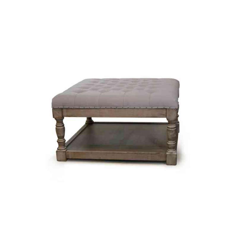 Awesome Cairona Grey Tufted Ottoman Machost Co Dining Chair Design Ideas Machostcouk