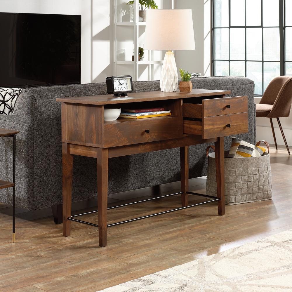 Cool Sauder Harvey Park Grand Walnut Sofa Table 420302 The Home Ncnpc Chair Design For Home Ncnpcorg