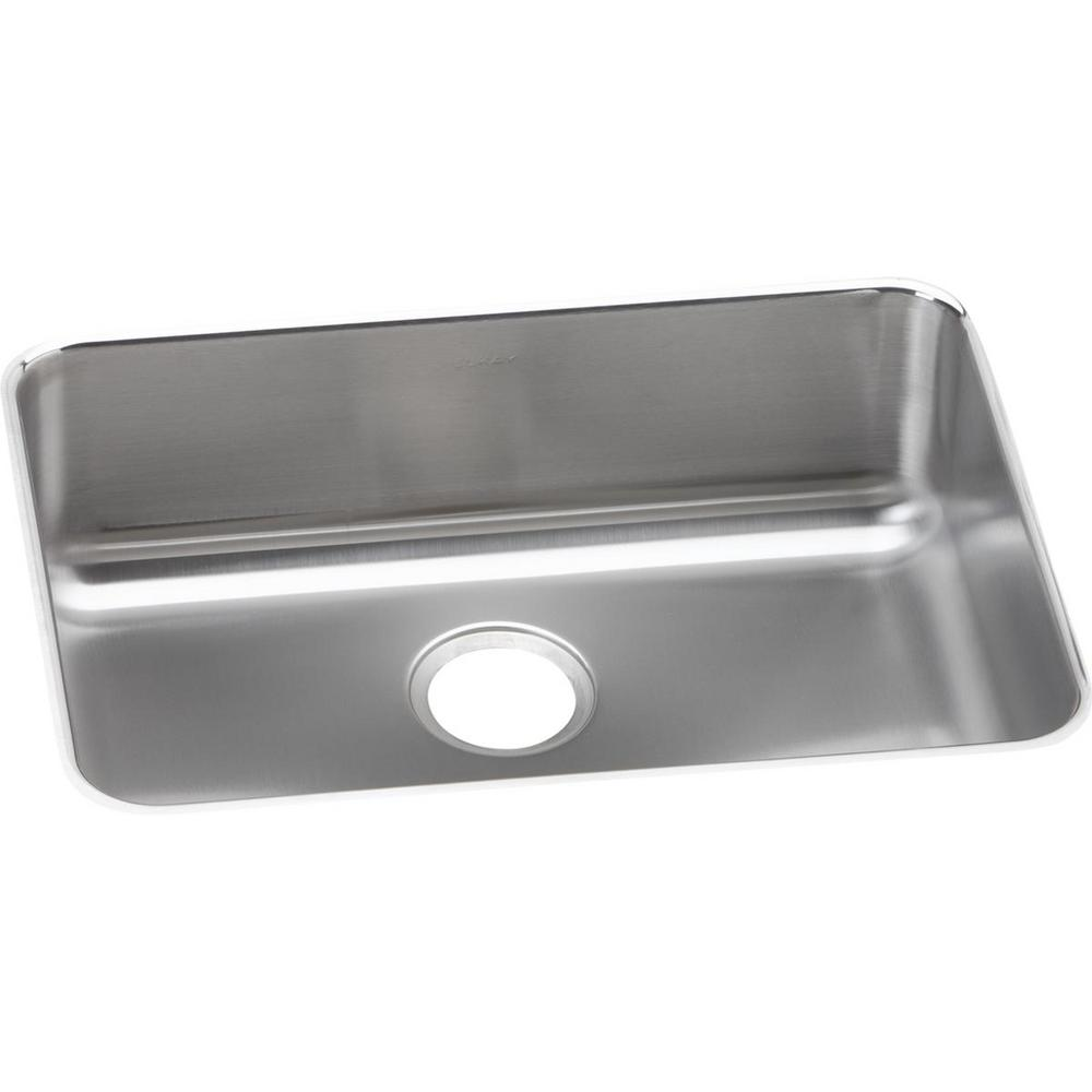 Elkay Lustertone Undermount Stainless Steel 26 in. Single Bowl Kitchen Sink