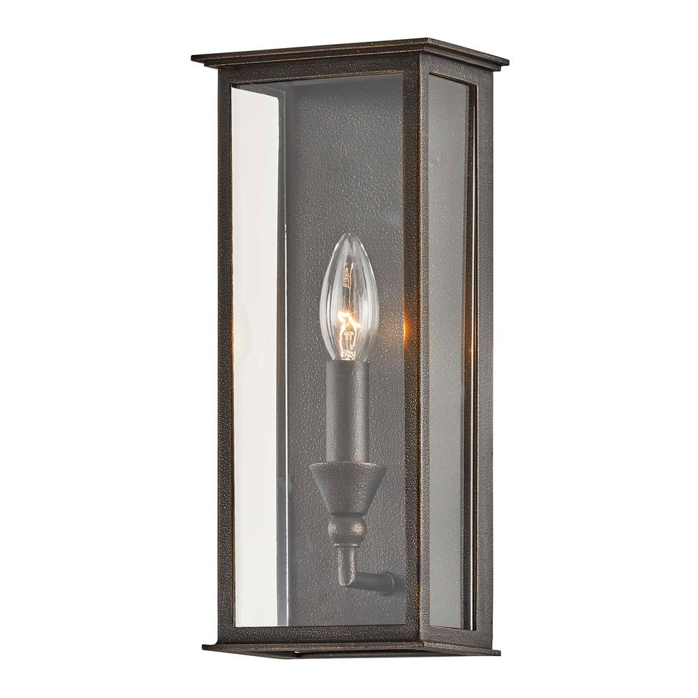 Troy Chauncey 1-Light Vintage Bronze Outdoor Wall Mount Sconce
