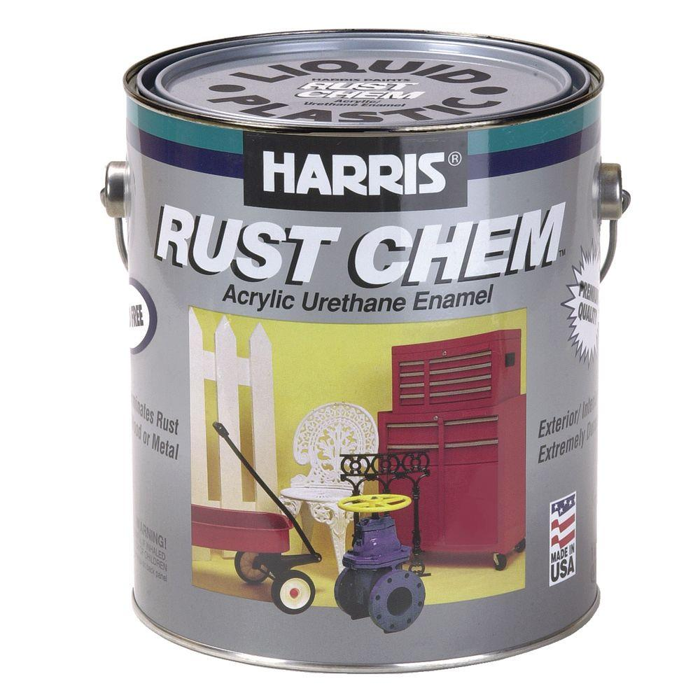 Harris Rust Chem 1 Gal Gloss Urethane White Exterior Paint 24103 The Home Depot