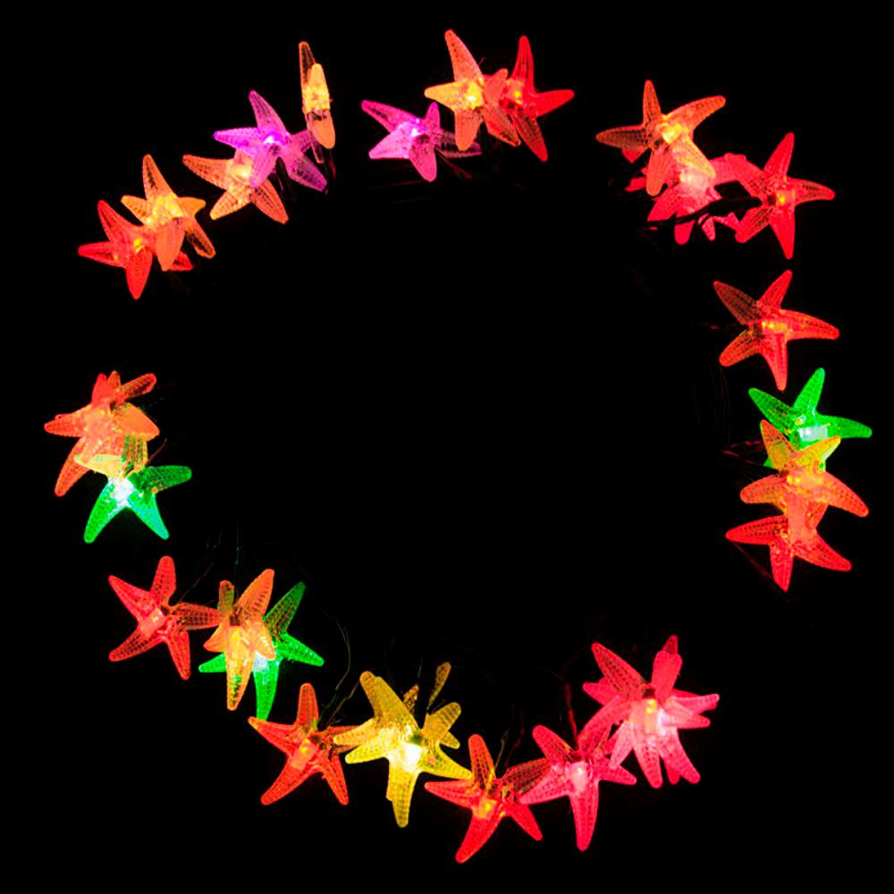 30 led multi color starfish string lights - Solar Powered Christmas Lights Home Depot