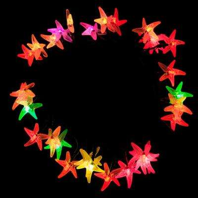 30-Light LED Multi-Color Solar Powered Starfish String Lights