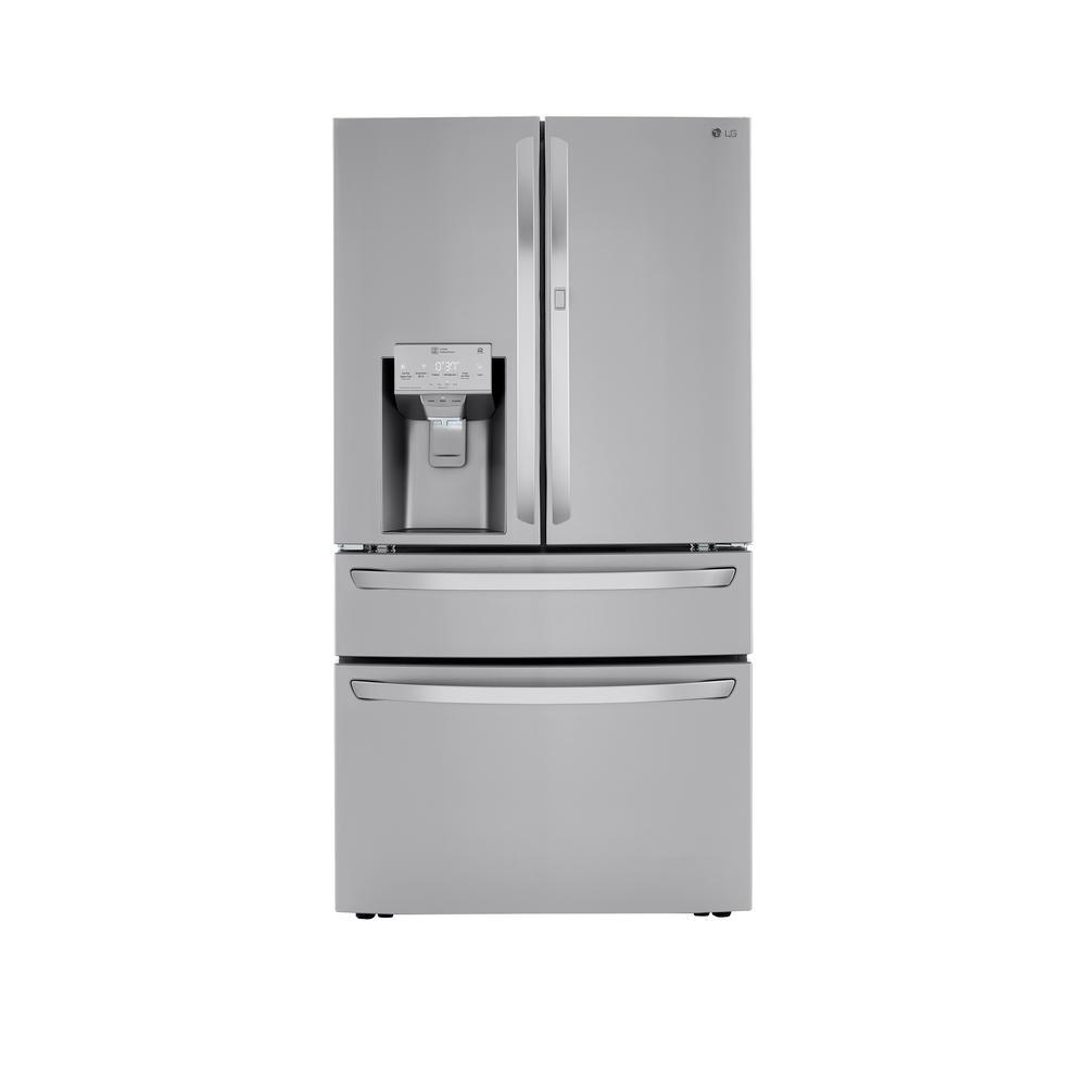LG Electronics 22.5 cu. ft. 4-Door French Door Refrigerator Door-In-Door, Dual and Craft Ice in PrintProof Stainless, Counter Depth, PrintProof was $3999.0 now $2698.2 (33.0% off)