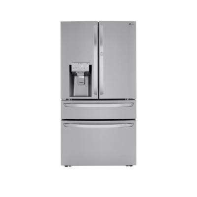 22.5 cu. ft. 4-Door French Door Refrigerator Door-In-Door, Dual and Craft Ice in PrintProof Stainless, Counter Depth