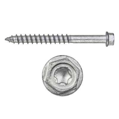 Kwik-Con II 1/4 in. x 1-1/4 in. Zinc Plated Stainless Steel Torx Hex Head Concrete Screw Anchor (100-Pack)
