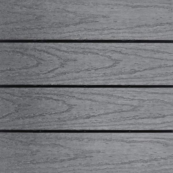 UltraShield Naturale 1 ft. x 1 ft. Quick Deck Outdoor Composite Deck Tile in Westminster Gray (10 sq. ft. Per Box)