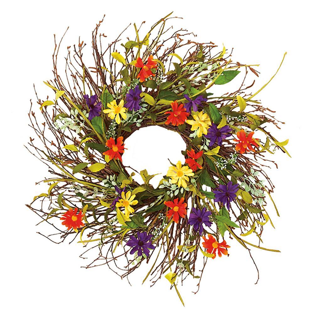 28 in. Wild Twig Wreath