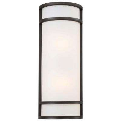 Bay View 2-Light Oil-Rubbed Bronze Outdoor Wall Mount Lantern