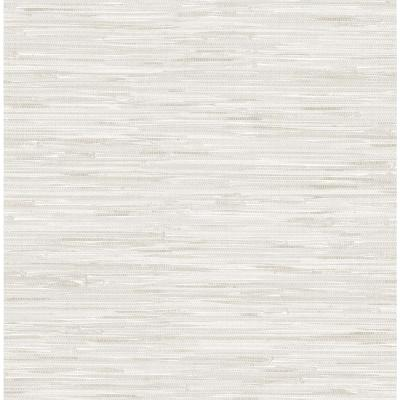 Cream Grassweave Textured Vinyl Strippable Wallpaper (Covers 30.75 sq. ft.)