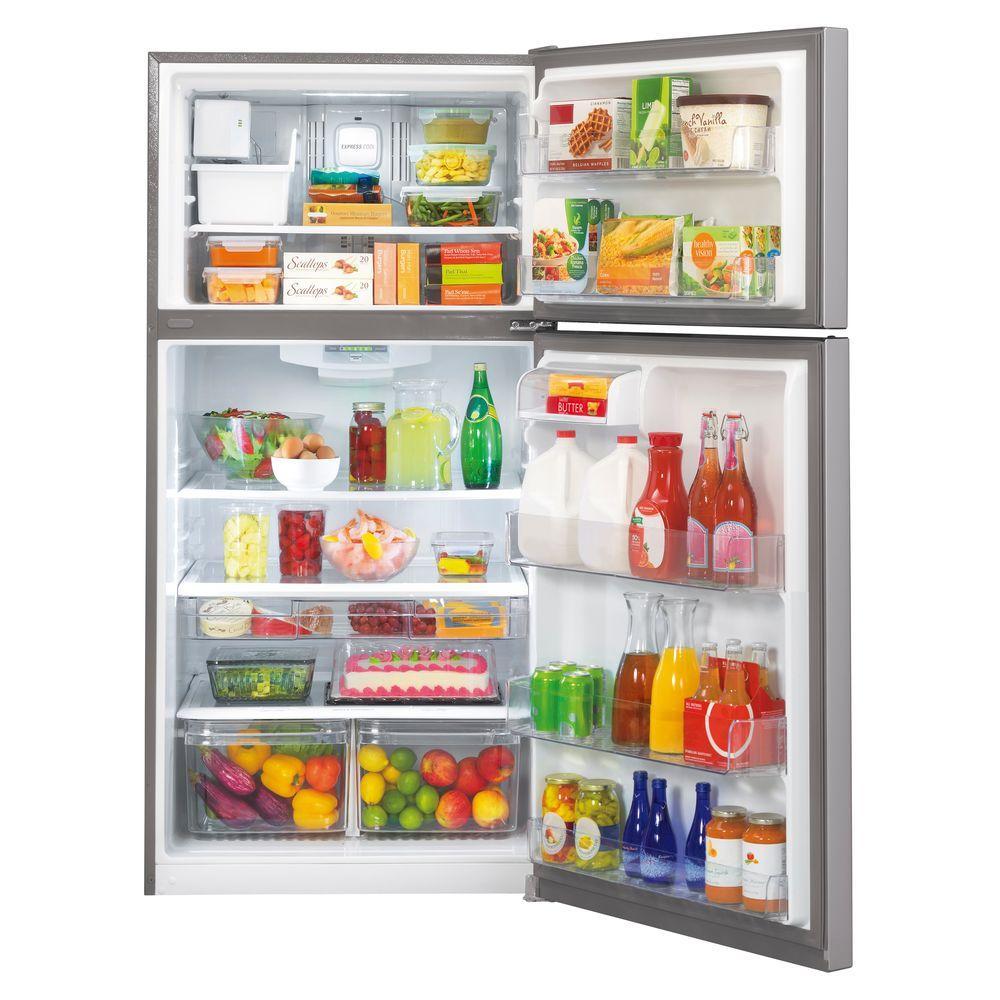 23.8 cu. ft. Top Freezer Refrigerator in Stainless Steel with Reversible Door