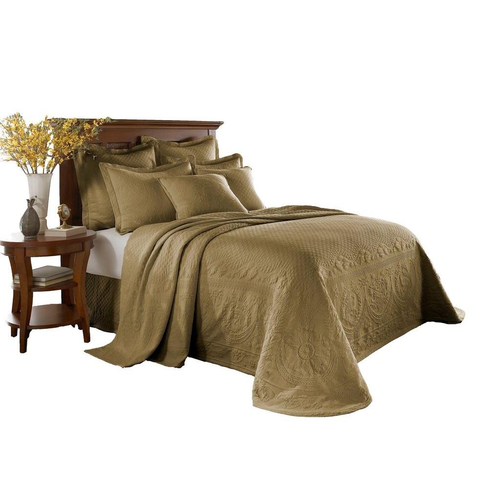 Historic Charleston Collection King Charles Birch Matelasse Cotton King Bedspread